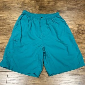 Tommy Bahama teal coloured swimming trunks